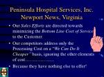 peninsula hospital services inc newport news virginia9