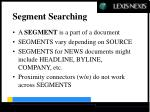 segment searching