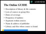 the online guide