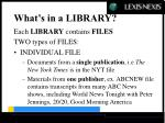what s in a library