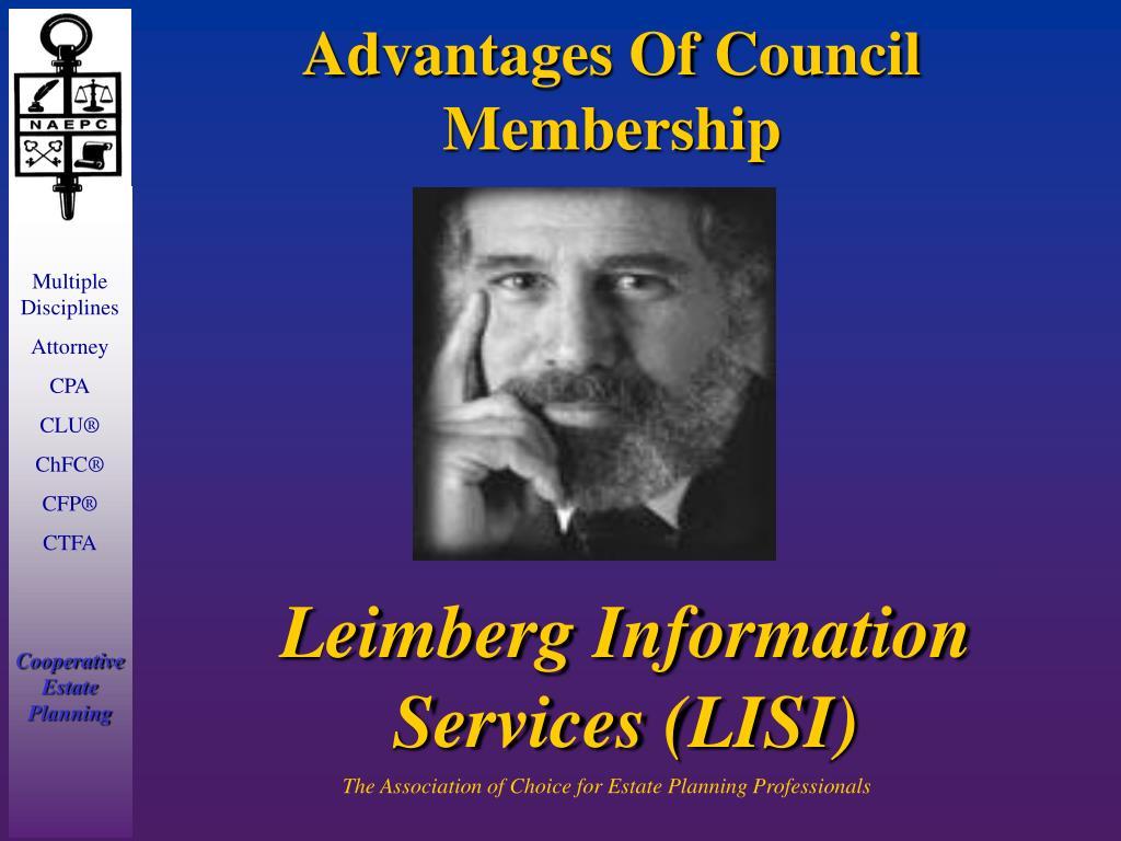 Advantages Of Council    Membership