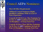 council aep nominees