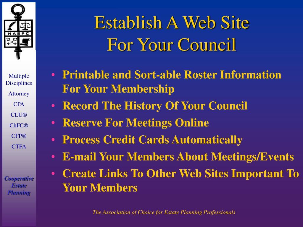 Establish A Web Site