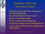 establish a web site for your council