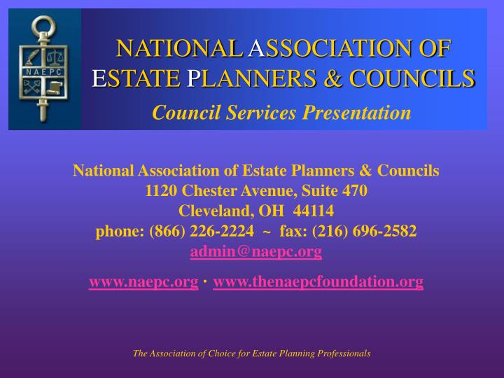 National a ssociation of e state p lanners councils