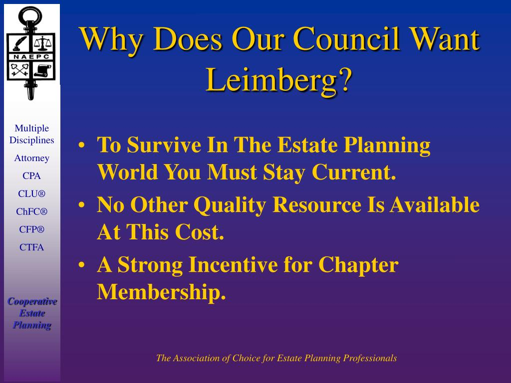 Why Does Our Council Want Leimberg?