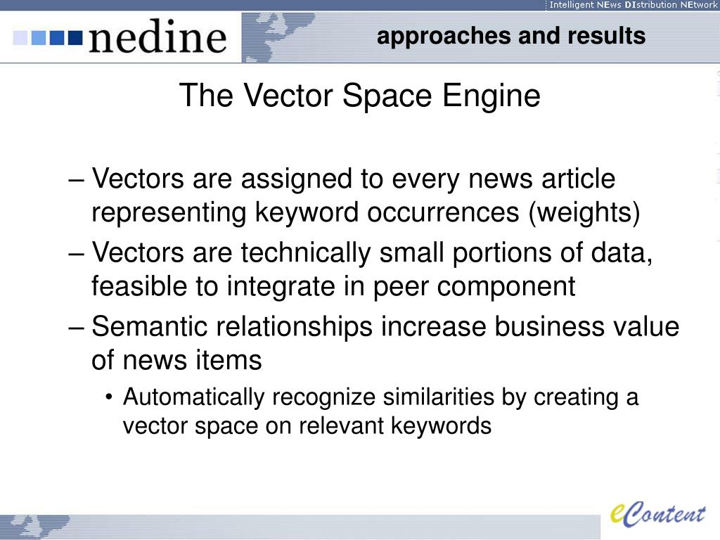 The Vector Space Engine
