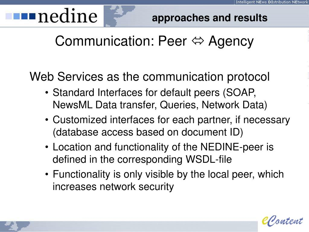 Communication: Peer