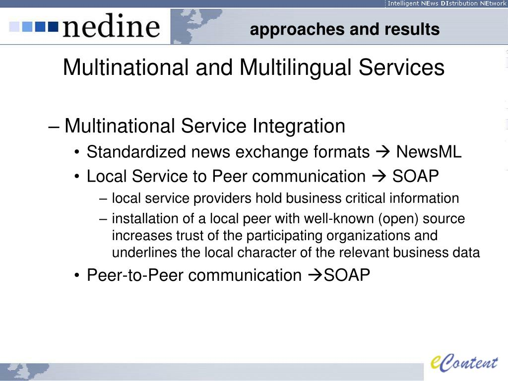Multinational and Multilingual Services