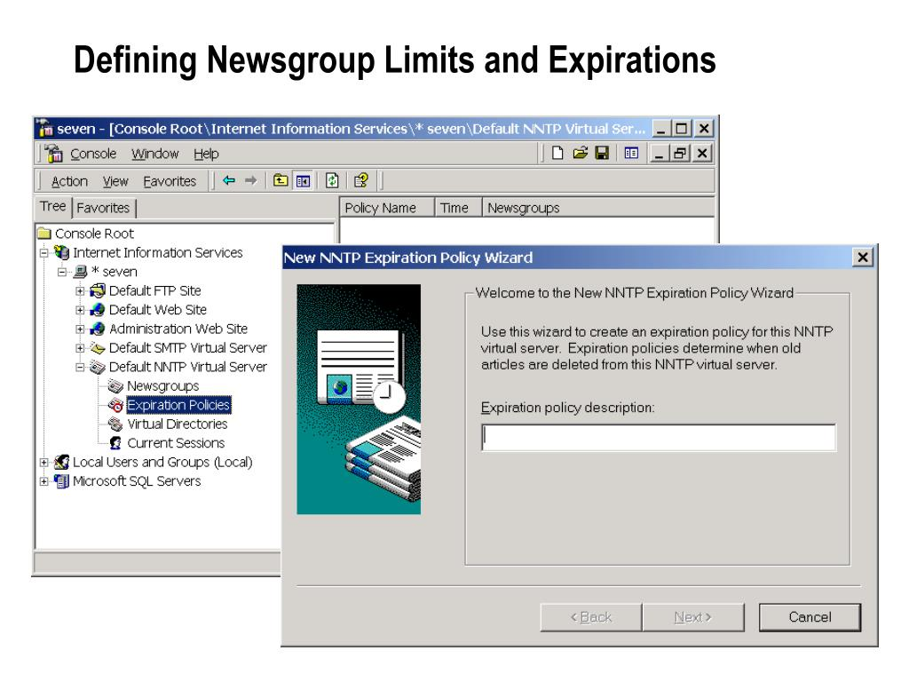 Defining Newsgroup Limits and Expirations