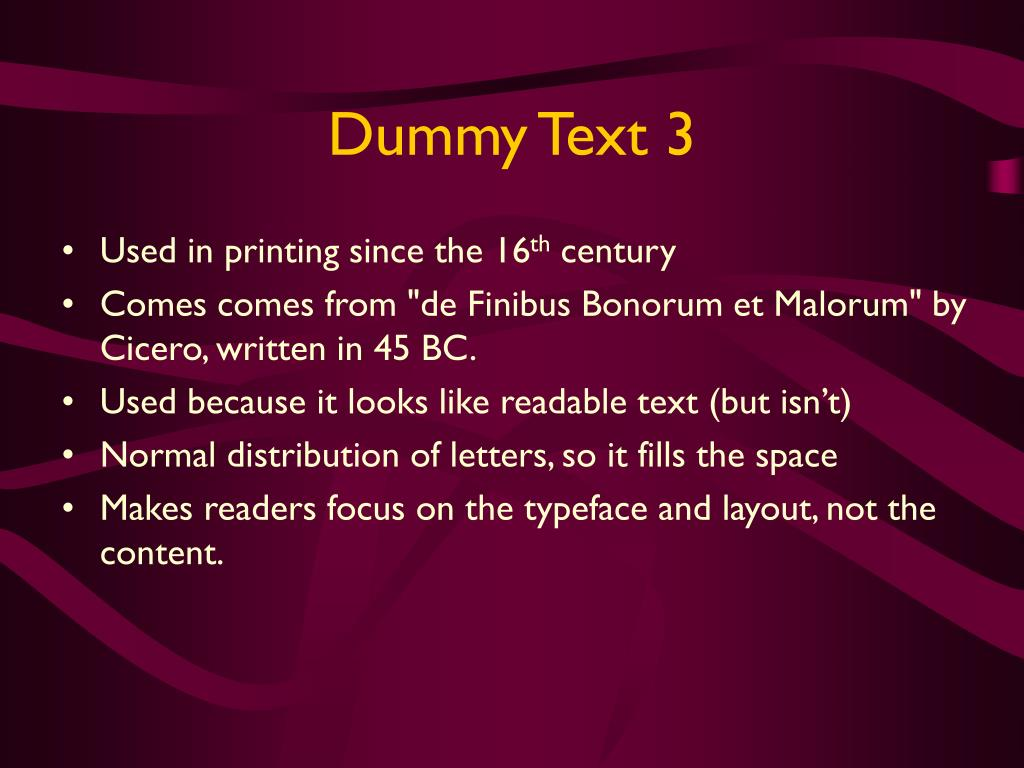 Dummy Text 3