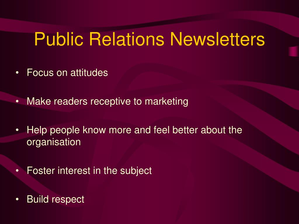 Public Relations Newsletters
