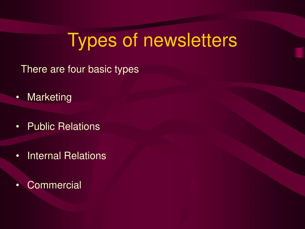 Types of newsletters