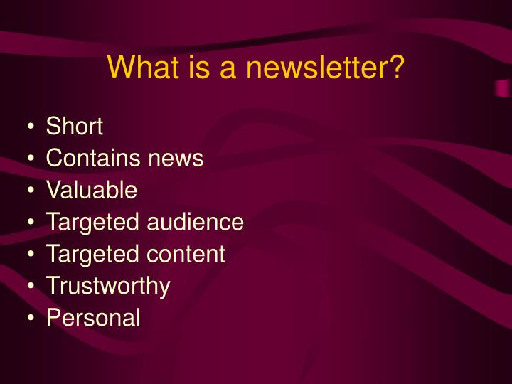 What is a newsletter