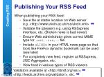 publishing your rss feed