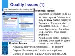 quality issues 1