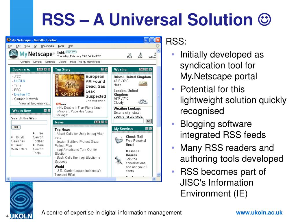 RSS – A Universal Solution