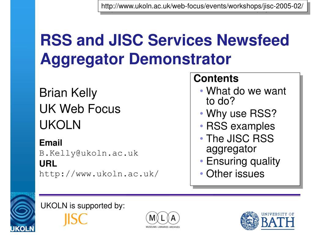 http://www.ukoln.ac.uk/web-focus/events/workshops/jisc-2005-02/
