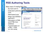 rss authoring tools
