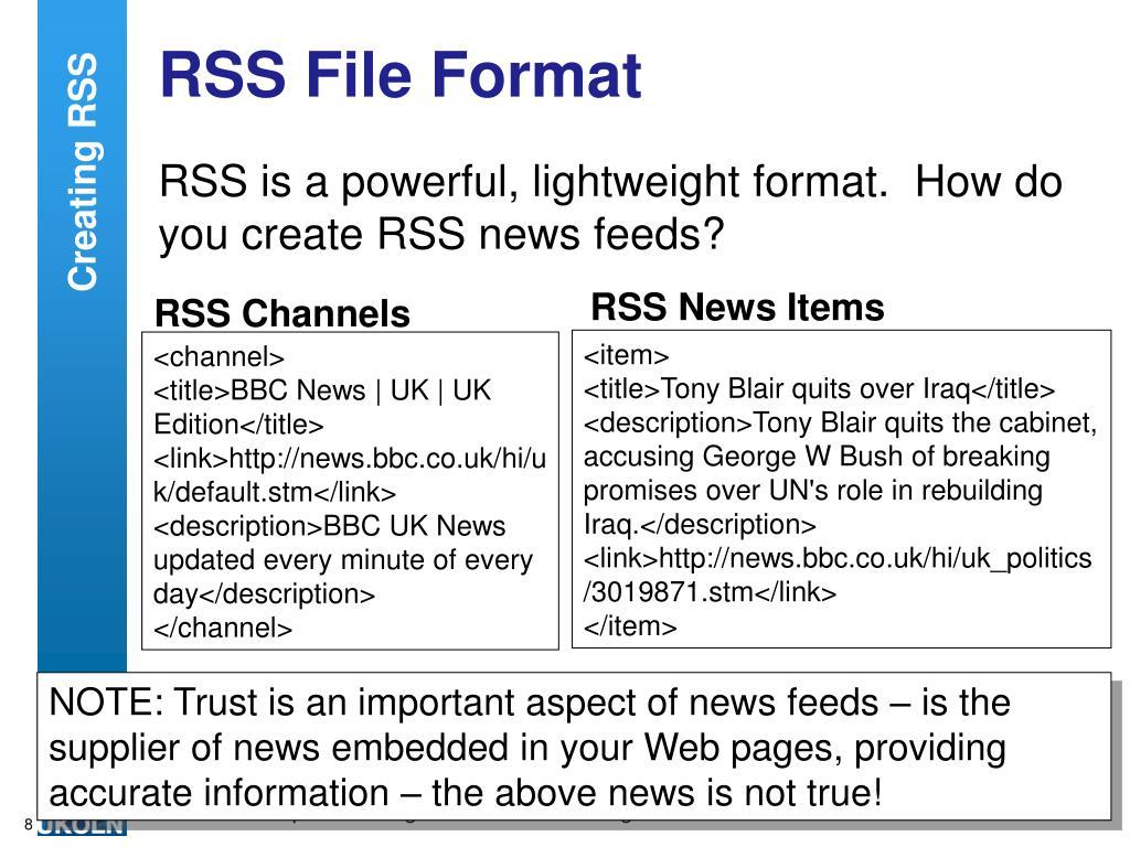 RSS News Items