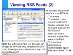 viewing rss feeds 2