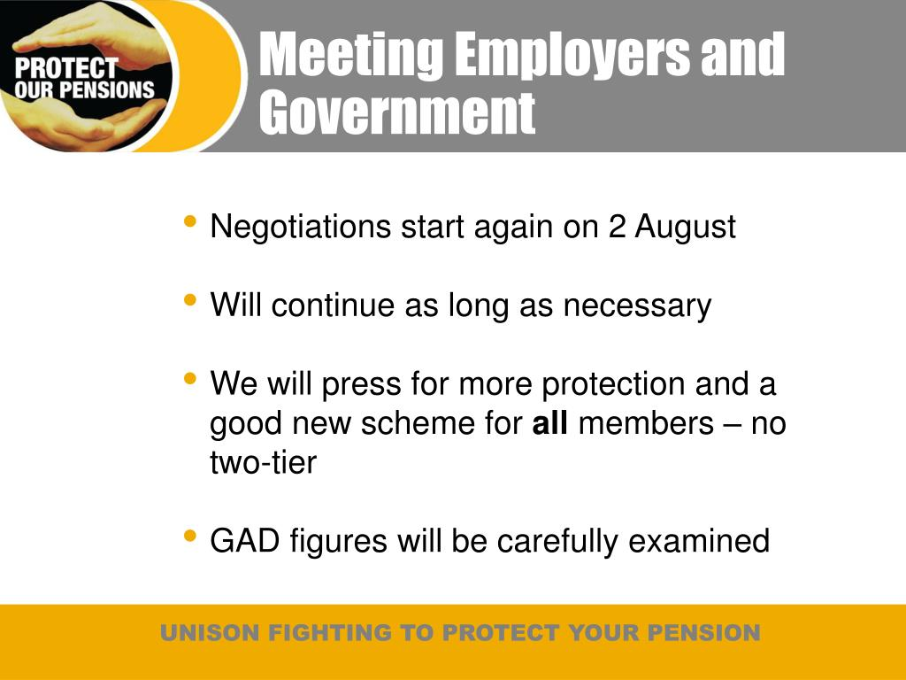 Meeting Employers and Government