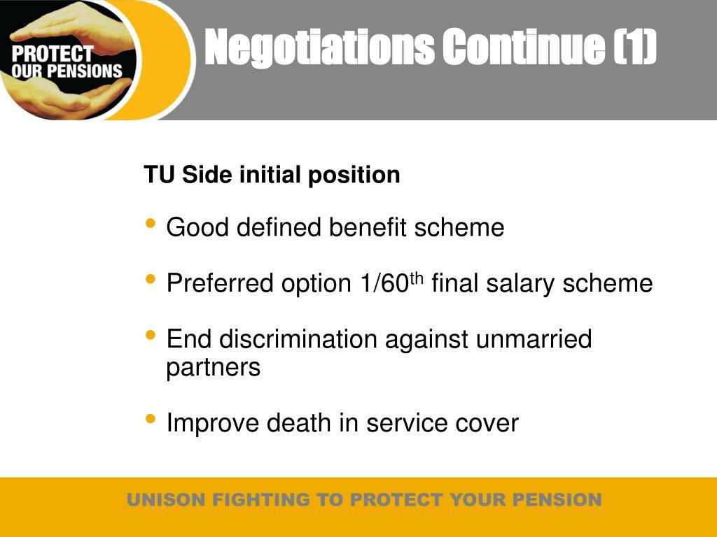 Negotiations Continue (1)
