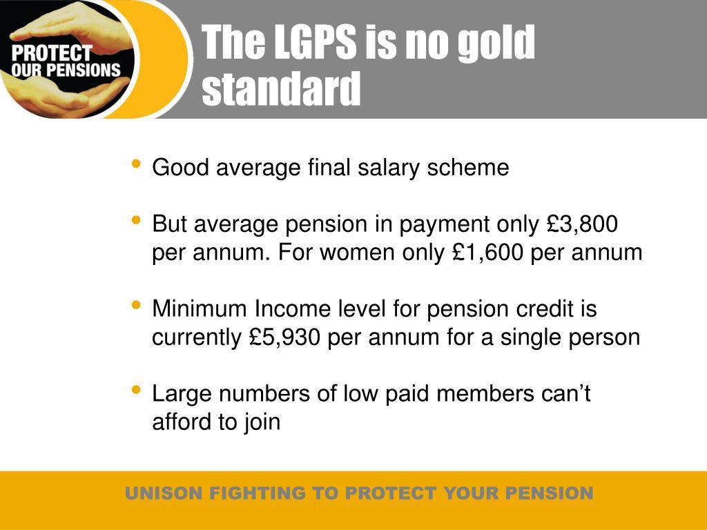 The LGPS is no gold