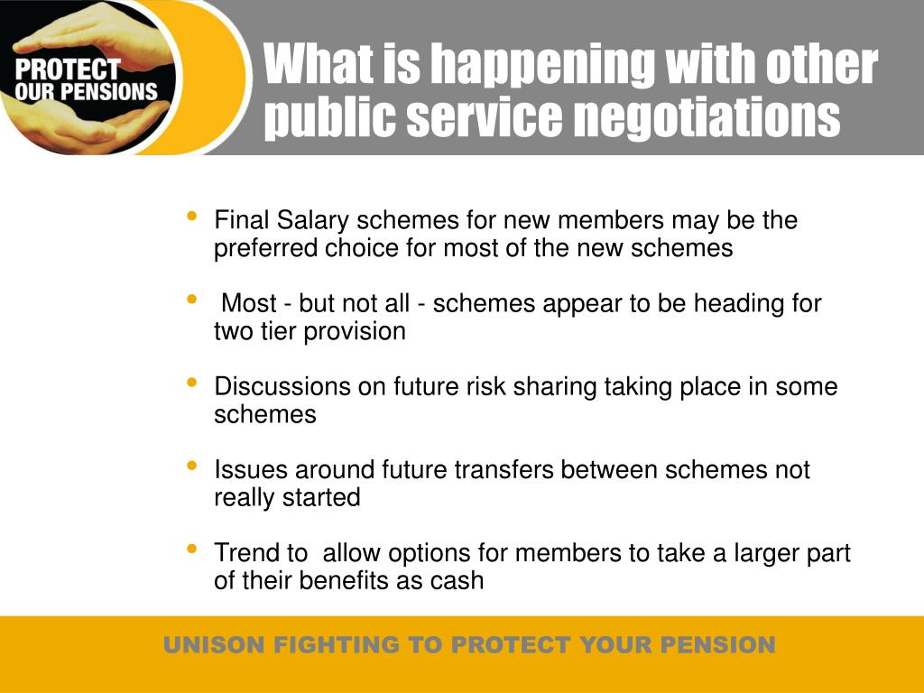 What is happening with other public service negotiations