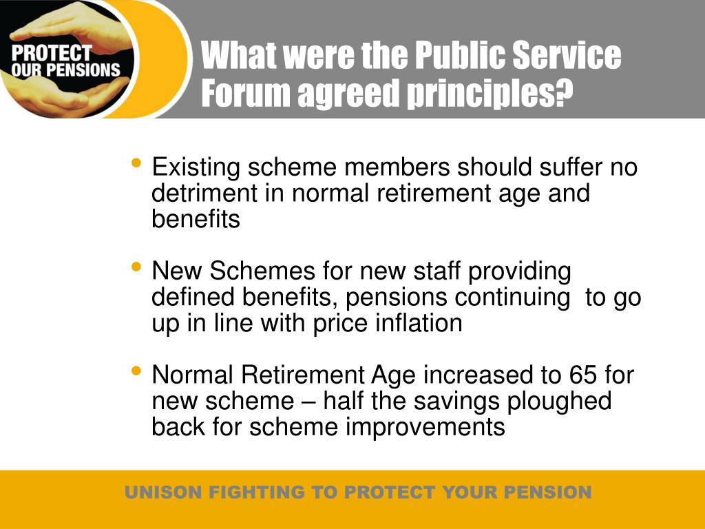 What were the Public Service Forum agreed principles?
