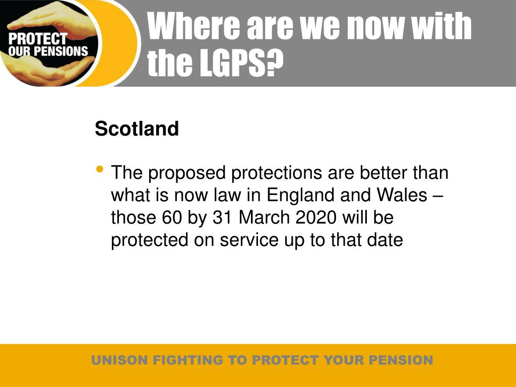 Where are we now with the LGPS?