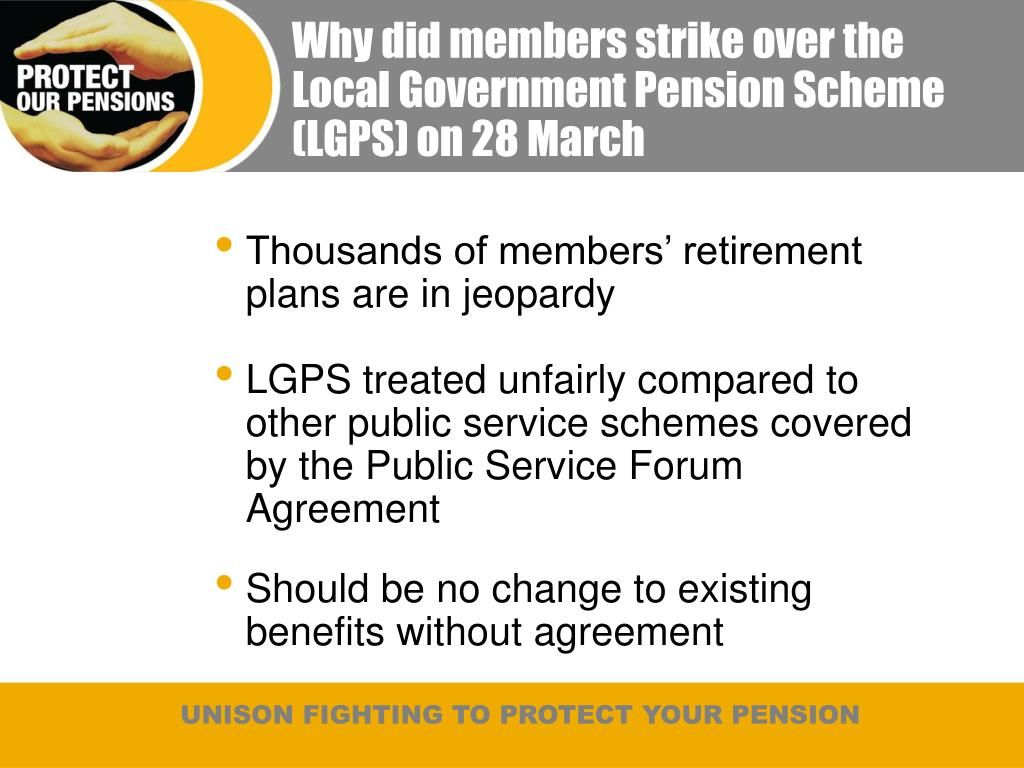 Why did members strike over the Local Government Pension Scheme (LGPS) on 28 March