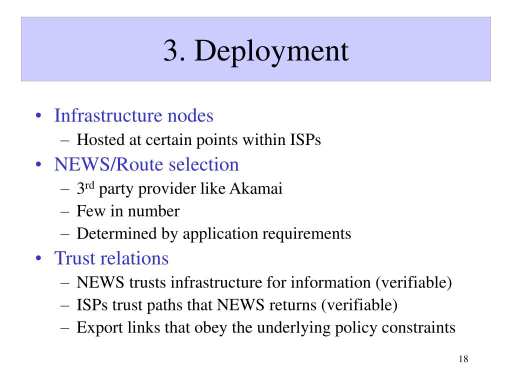3. Deployment