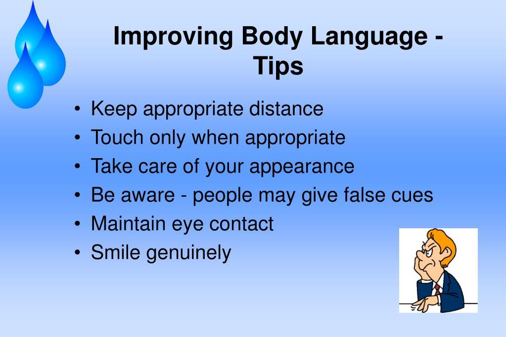 Improving Body Language - Tips