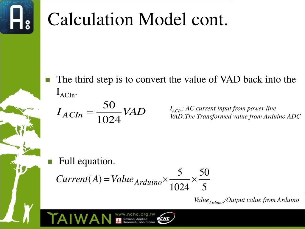 Calculation Model cont.