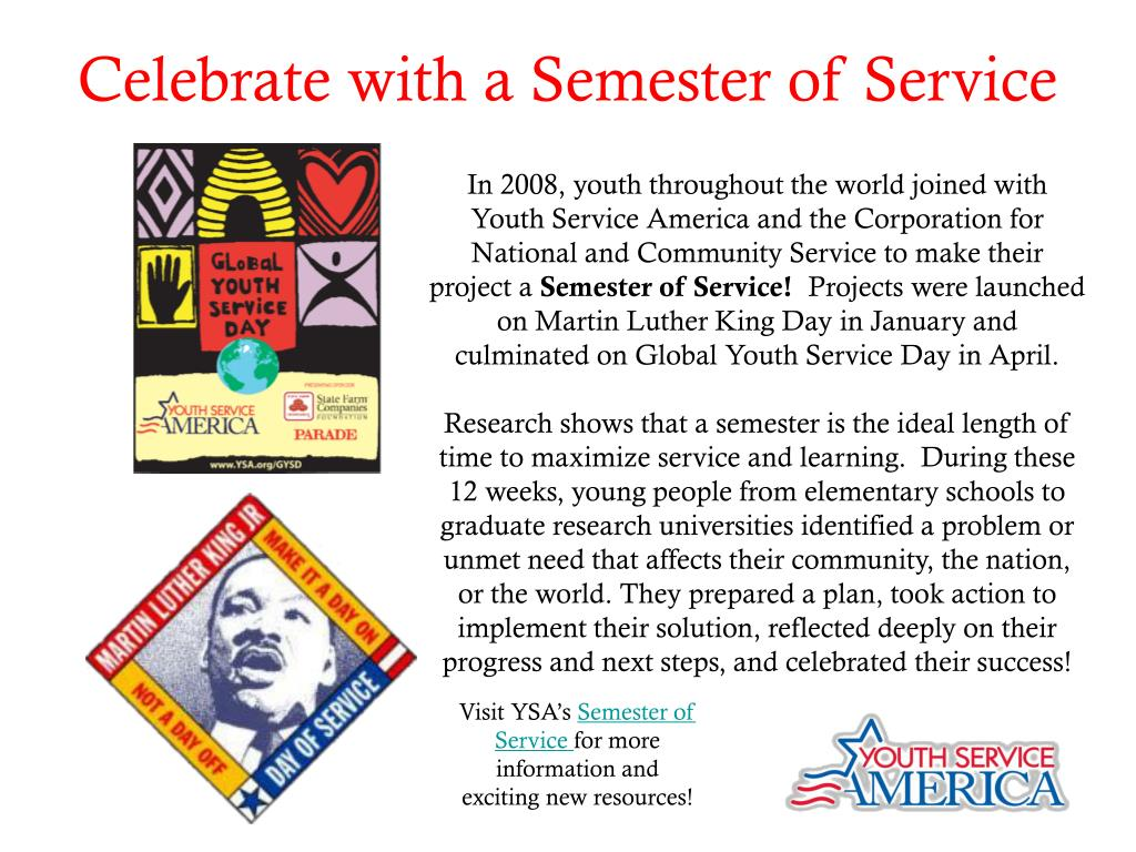 Celebrate with a Semester of Service