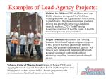 examples of lead agency projects