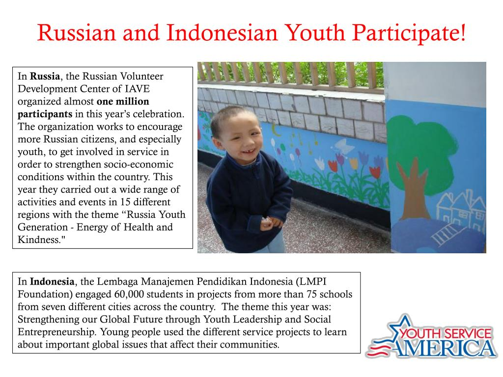 Russian and Indonesian Youth Participate!
