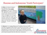 russian and indonesian youth participate