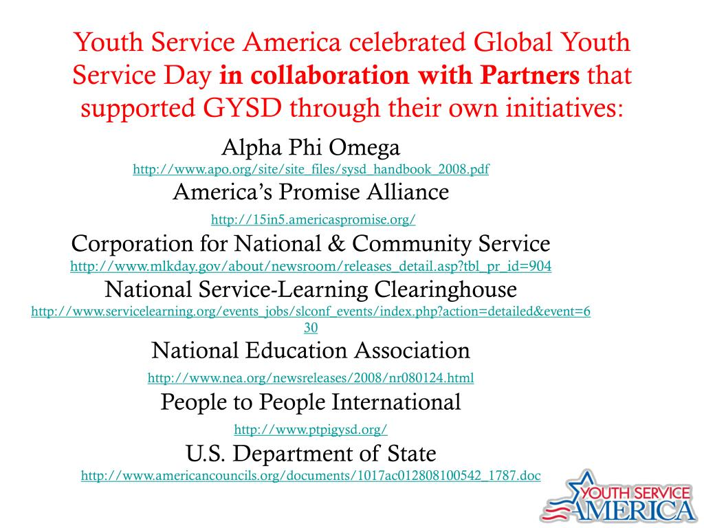 Youth Service America celebrated Global Youth Service Day