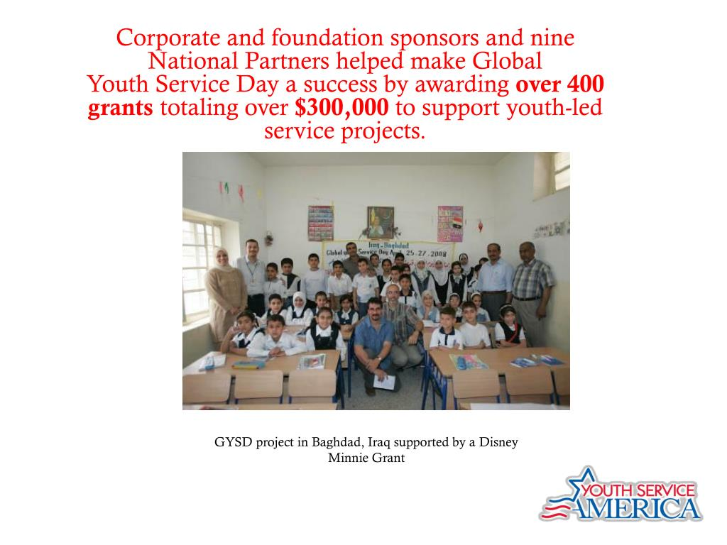 Corporate and foundation sponsors and nine National Partners helped make Global