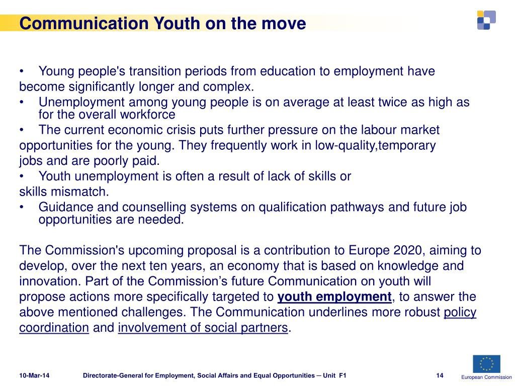 Communication Youth on the move