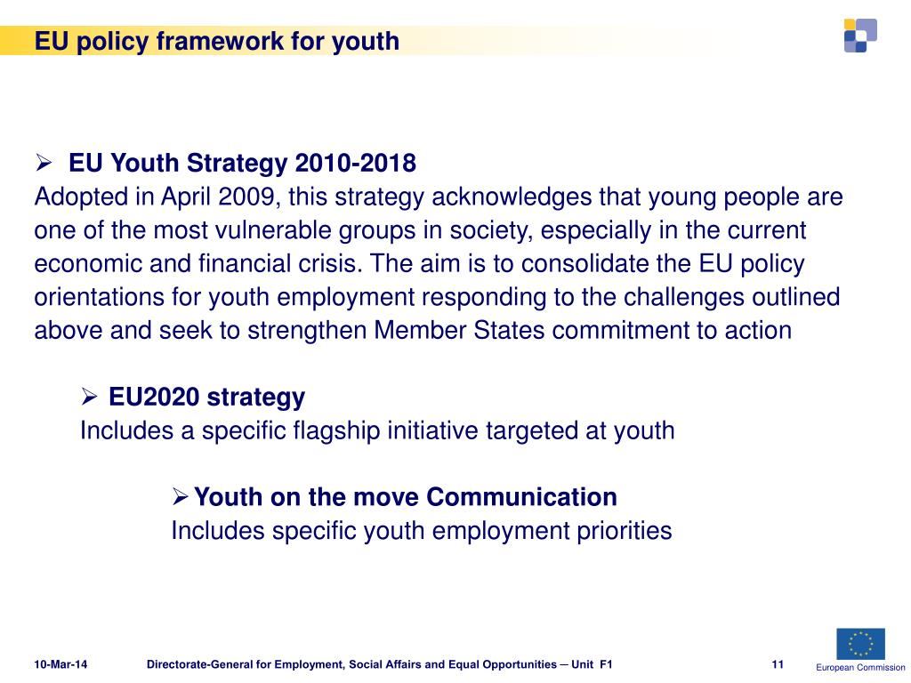 EU policy framework for youth