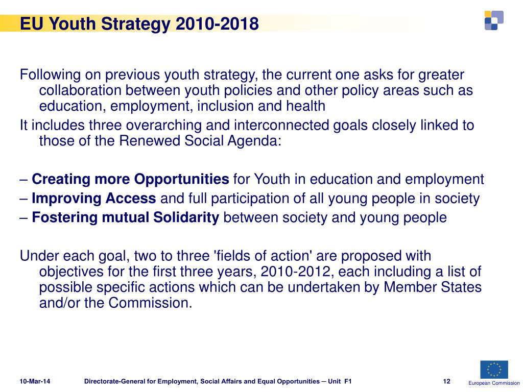 EU Youth Strategy 2010-2018