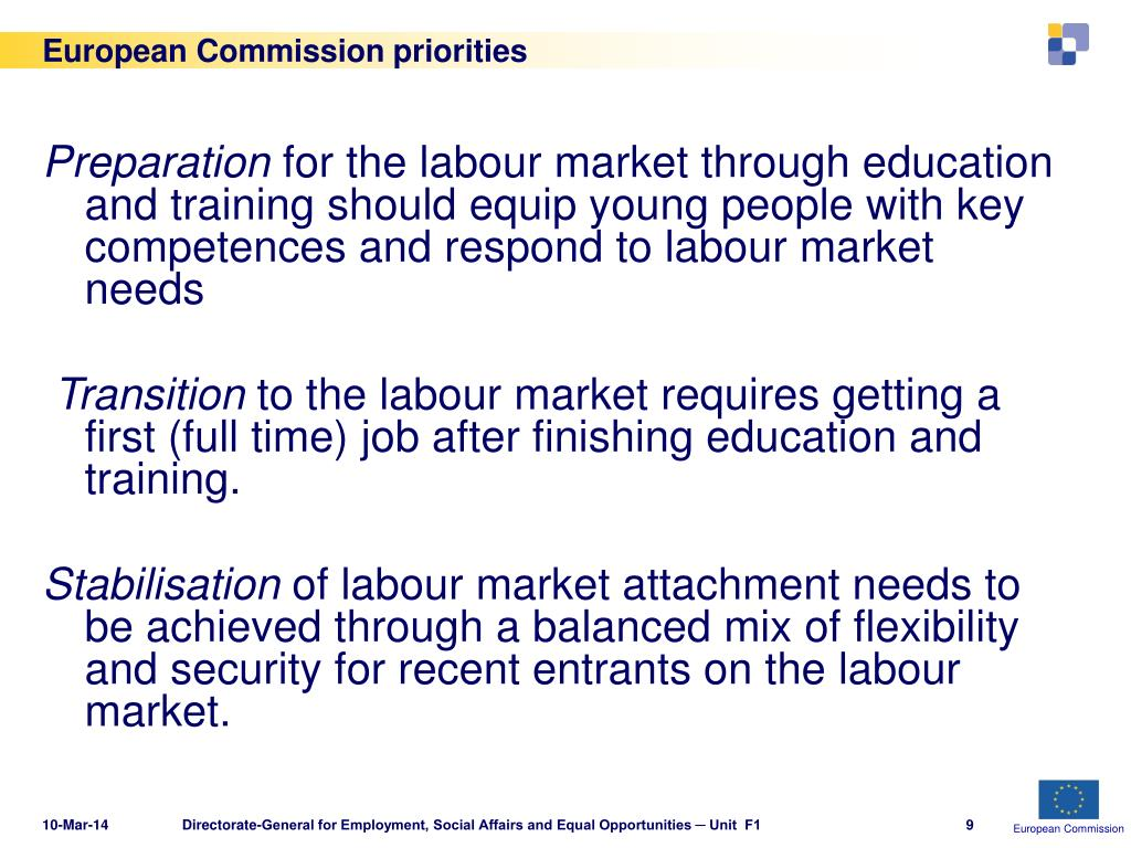 European Commission priorities