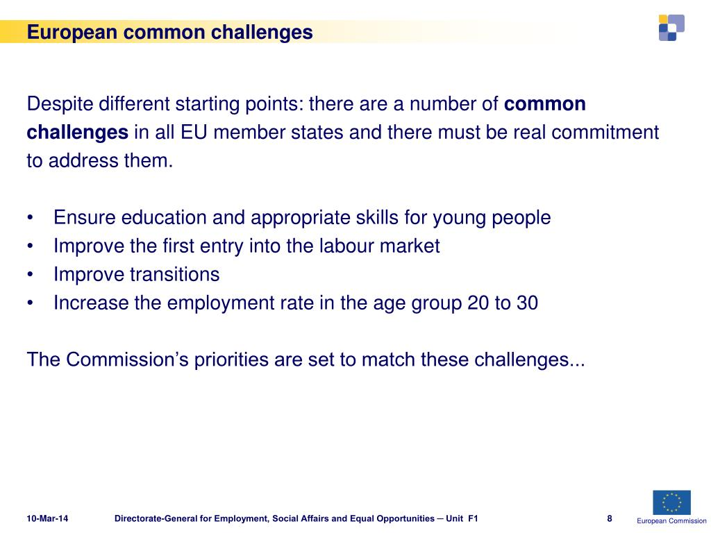 European common challenges