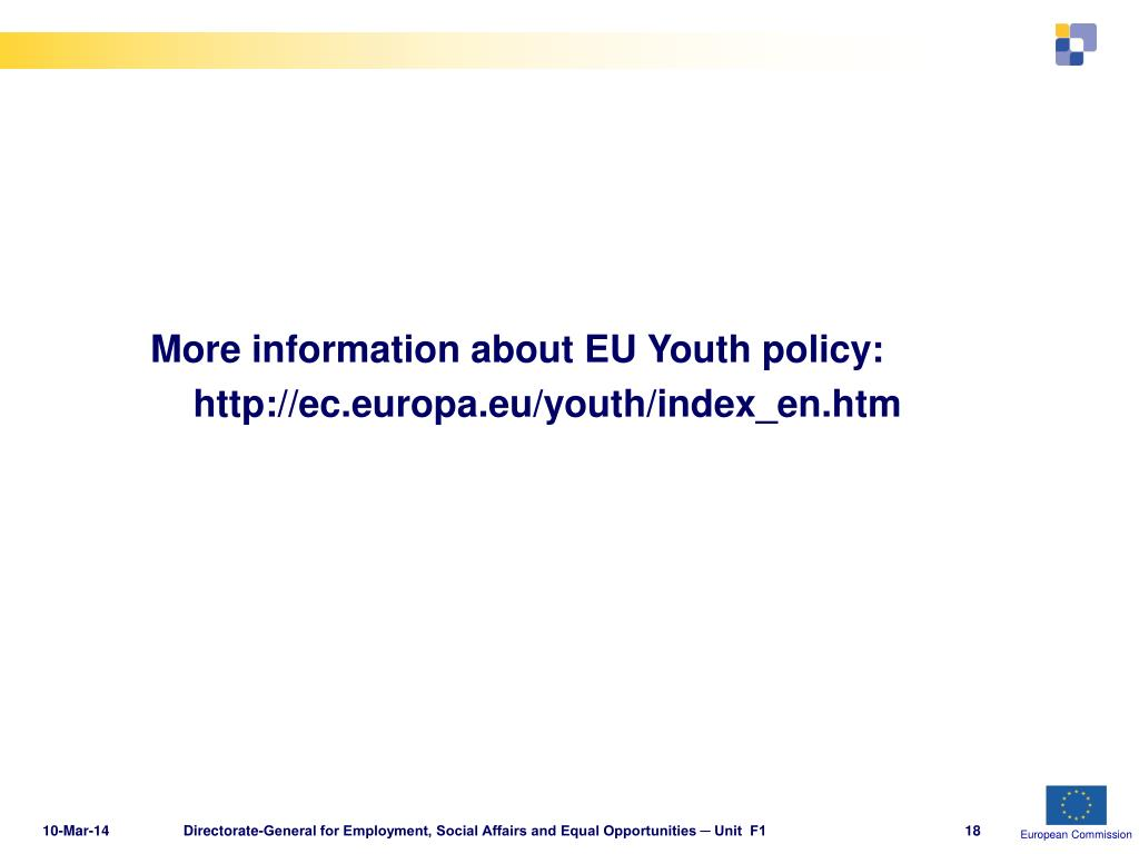 More information about EU Youth policy: