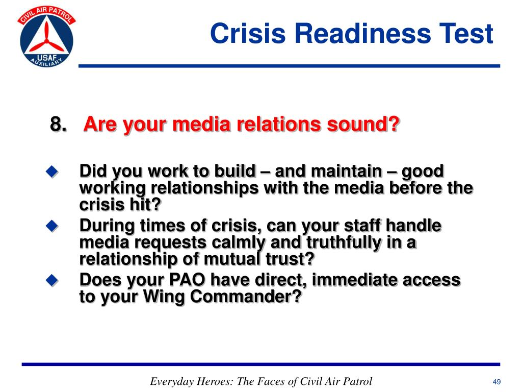 Crisis Readiness Test