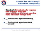 excerpts from air university s public affairs strategic plan14