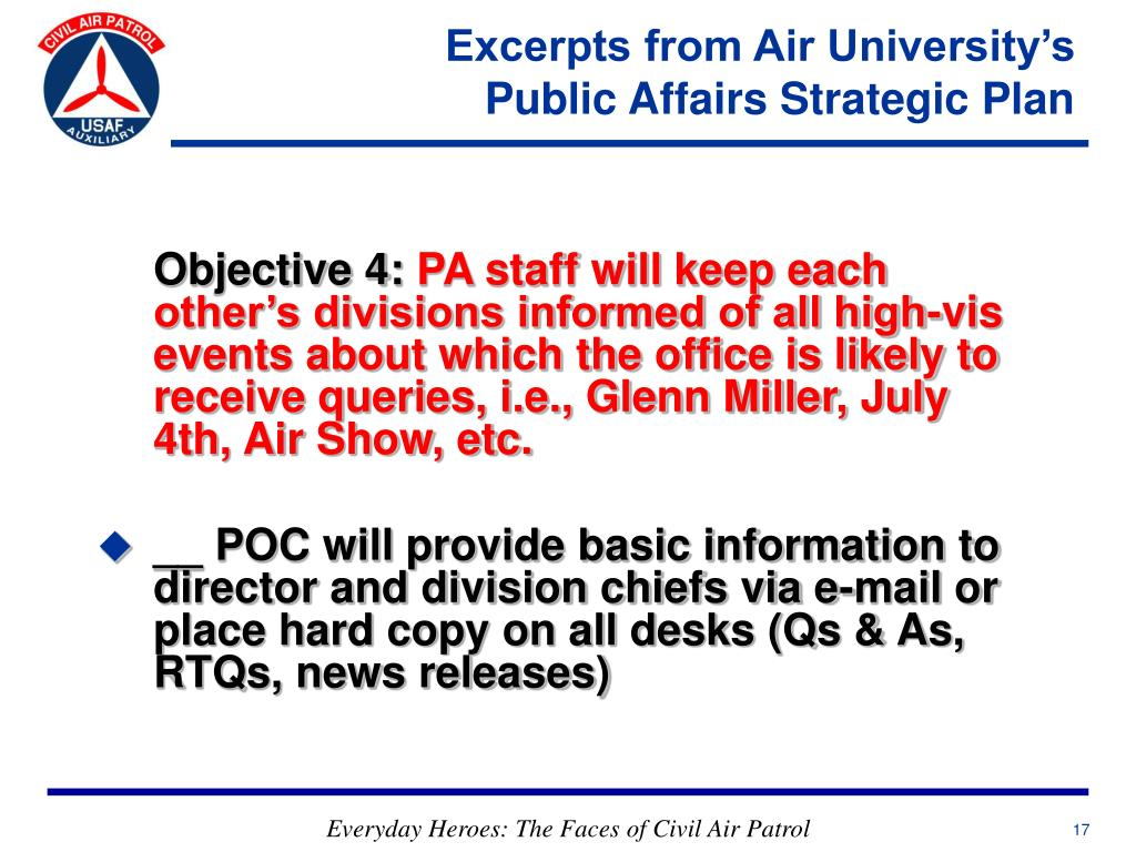 Excerpts from Air University's